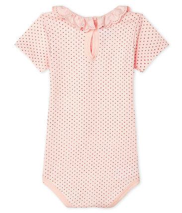 Bodi para bebé niña con collarín rosa Fleur / rosa Copper