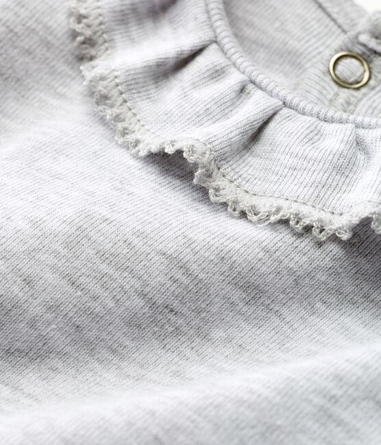 Body manga corta con collarín para bebé niña gris Poussiere Chine