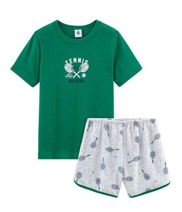 Pijama corto de rizo picado para niño