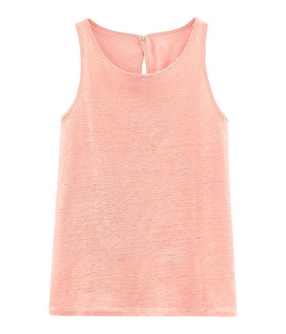 Camiseta de tirantes de lino irisado para mujer rosa Rosako / rosa Copper
