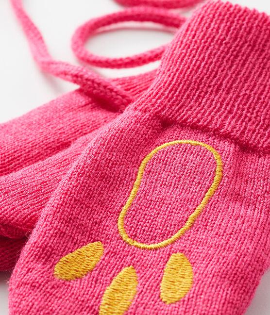 Manoplas para bebé unisex rosa Geisha