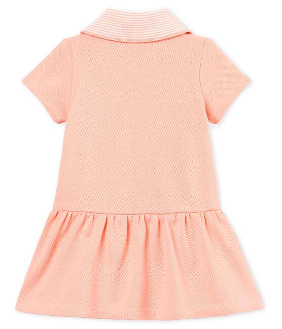 Vestido body manga corta para bebé niña rosa Rosako