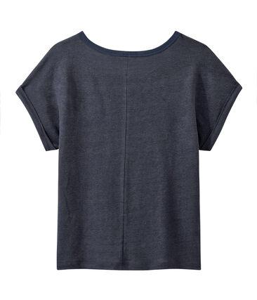 Camiseta de lino brillante para mujer