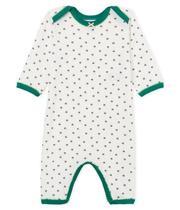 Pelele de punto para bebé niña blanco Marshmallow / azul Medieval