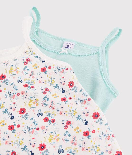 Lote de 3 camisas de tirantes con estampado de flores para niña pequeña lote .