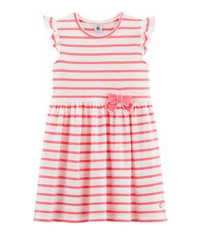 Vestido de niña blanco Marshmallow / rosa Cupcake