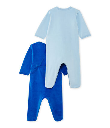 Lote de 2 pijamas de terciopelo para bebé niña