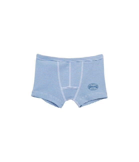 Boxer mil rayas para niño azul Alaska / blanco Ecume
