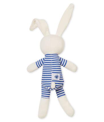 Dudú conejito sonajero para bebé unisex azul Smoking / blanco Marshmallow