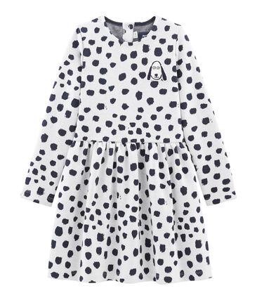 Vestido para niña Jean Jullien MARSHMALLOW/DOTTIES