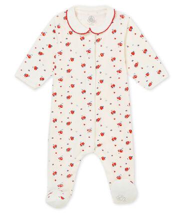 Pijama para bebé niña en punto 1x1 afelpado estampado