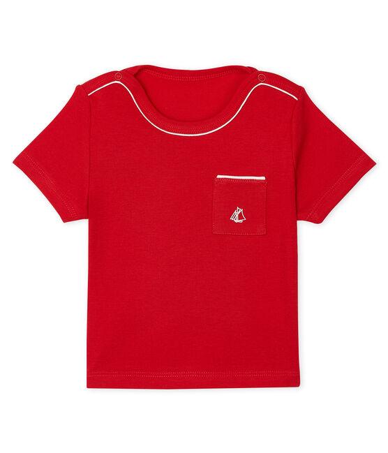 Tee shirt manches courtes bébé garçon rojo Terkuit