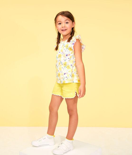 Bermudas de niña amarillo Eblouis
