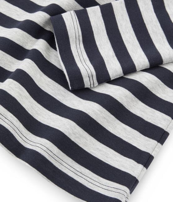 Camiseta interior para mujer azul Smoking / gris Beluga