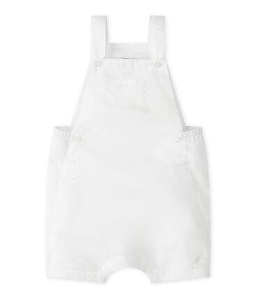 Peto corto de lino para bebé niño blanco Marshmallow
