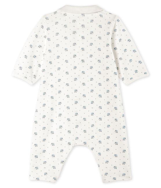 Pelele sin pies de punto para bebé blanco Marshmallow / blanco Multico