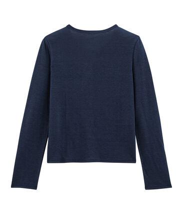 Cárdigan de lino para mujer azul Medieval