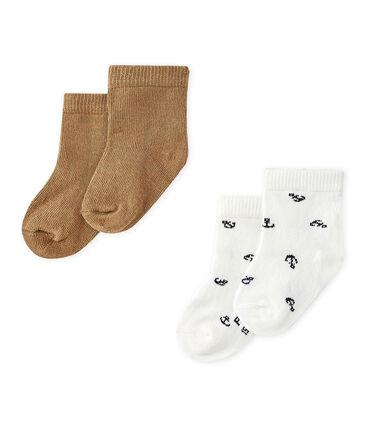 Lote de dos pares de calcetines bebé niño. lote .