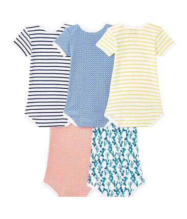 Lote de 5 bodies de manga corta para bebé niño