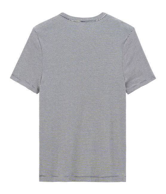 Camiseta de manga corta icónica con cuello redondo para hombre azul Smoking / blanco Marshmallow