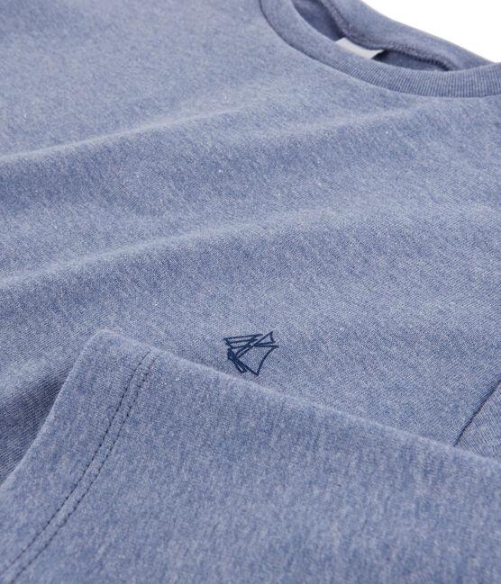 Camiseta de manga larga para niño azul Captain Chine