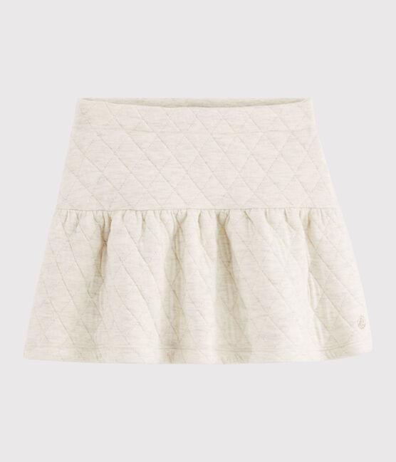 Falda de tejido tubular acolchado de niña gris Montelimar Chine