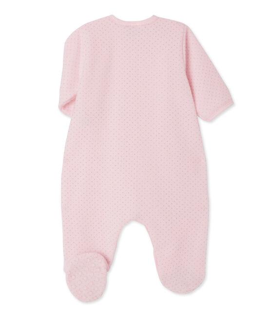Pelele de noche para bebé niña rosa Vienne / gris Mistigri
