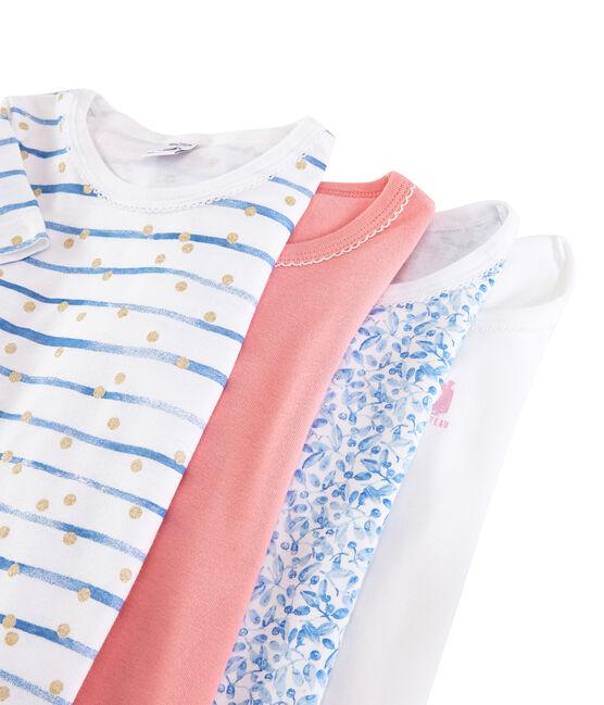 Bolsita sorpresa de 4 camisetas de manga corta para niñ lote .