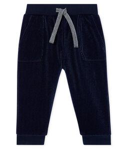 Pantalón de pana para bebé niño azul Smoking