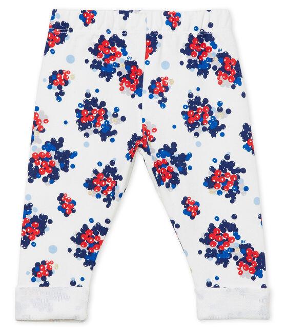 Pantalón para bebé niña estampado blanco Marshmallow / blanco Multico