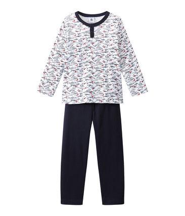 Pijama con cuello tunecino para niño
