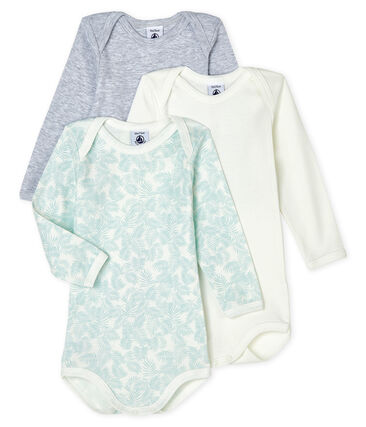 Tres bodis de manga larga para bebé de niño lote .
