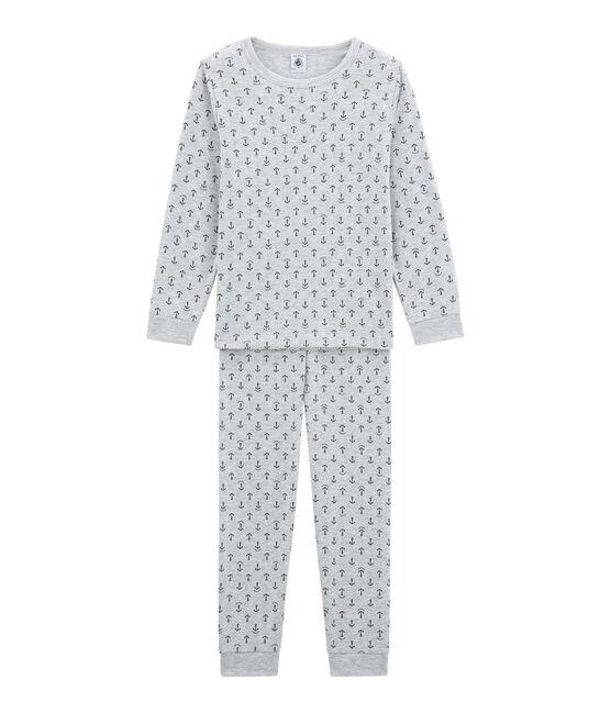 Pijama para niño gris Poussiere / azul Medieval