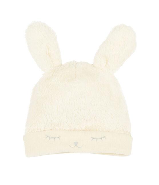 Gorro para bebé niña con forro polar blanco Marshmallow
