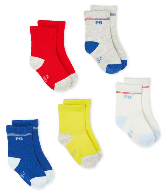 Lote de 5 pares de calcetines bebé niño lote .