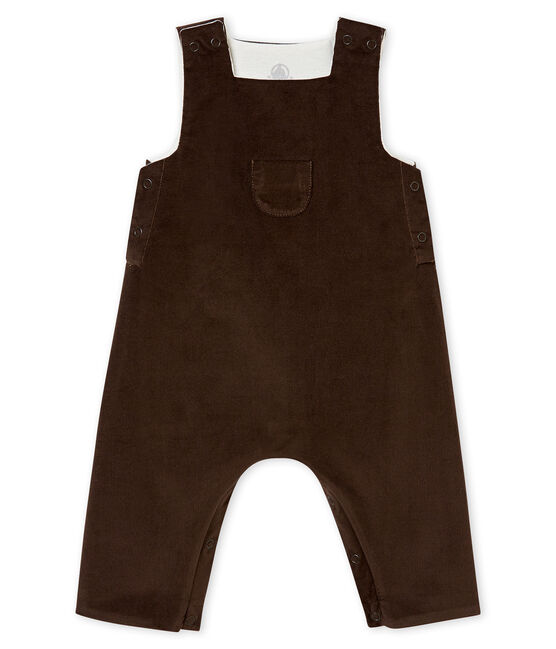 Peto de pana para bebé niño marrón Pepper