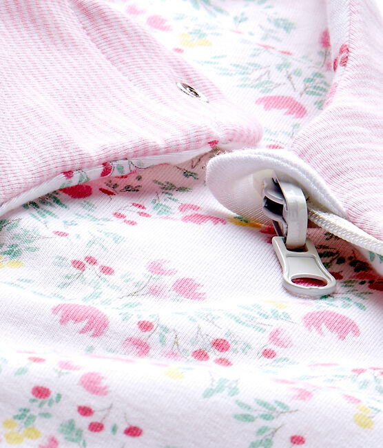 Saco reversible para bebé niña blanco Ecume / blanco Multico