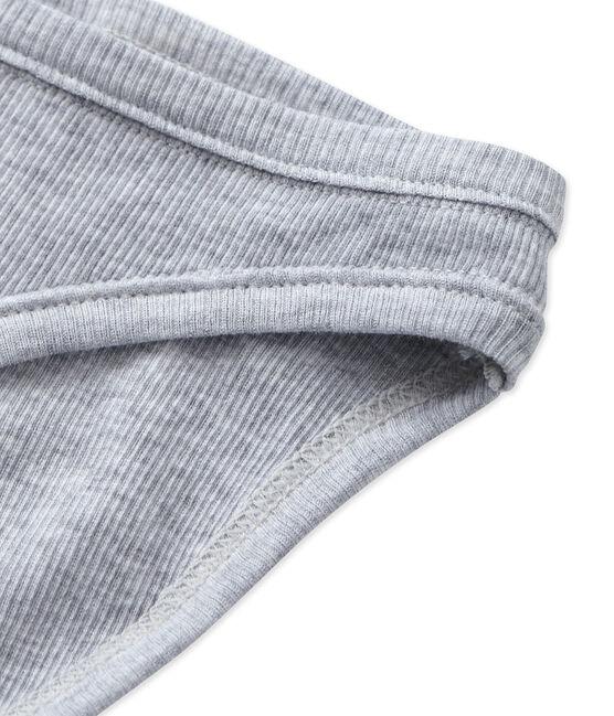 Braguita de algodón para mujer gris Fumee Chine