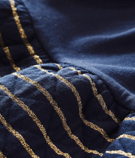 Vestidobi-materiamarinero para bebé niña azul Smoking / amarillo Dore