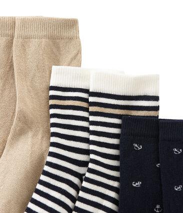 Cofre de 3 pares de calcetines para niño