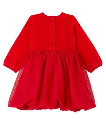 Vestido de bebé niña rojo Terkuit