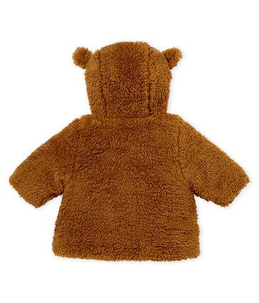 Abrigo de sherpa para bebé niña marrón Brindille