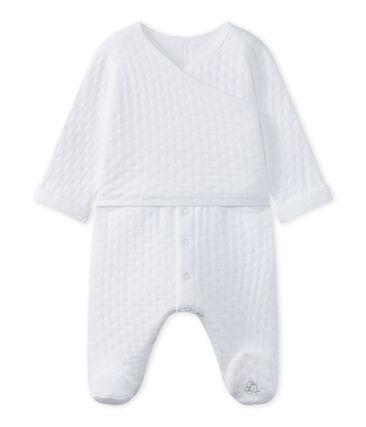 Pijama bebé mixto en túbico acolchado blanco Ecume