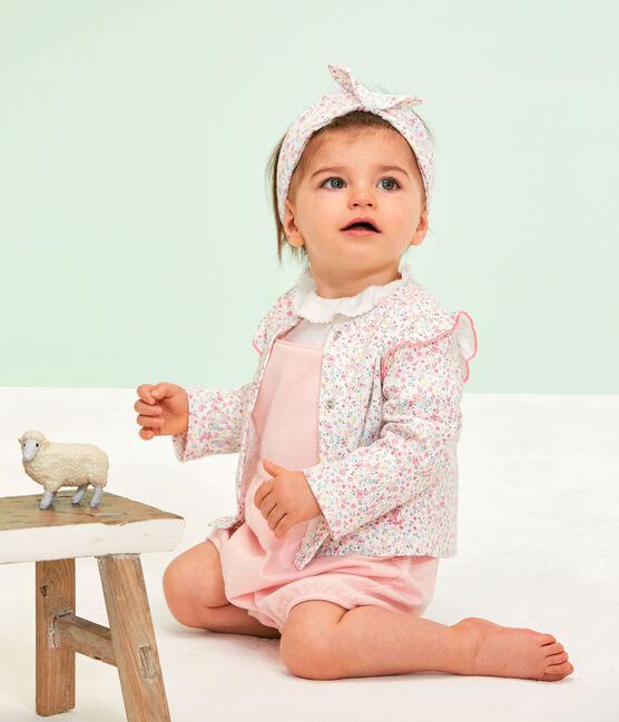 Cárdigan ligero estampado para bebé niña blanco Marshmallow / blanco Multico