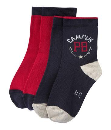 Lote de 2 pares de calcetines para niño