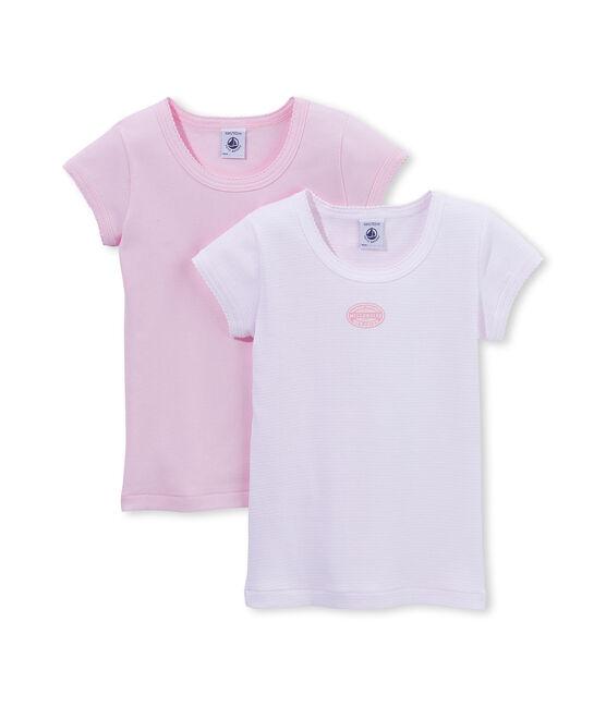 Lote de 2 camisetas mil rayas para niña lote .