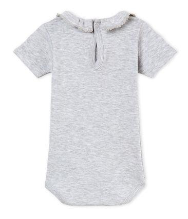 Body manga corta con collarín para bebé niña