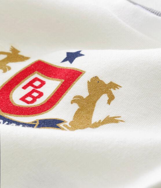 Camiseta para bebé niño blanco Marshmallow / rojo Terkuit