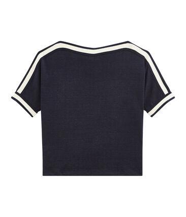Camiseta de manga corta en lino