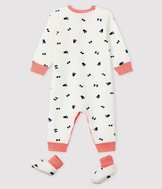 Conjunto de noche de rizo para bebé niña blanco Marshmallow / azul Medieval